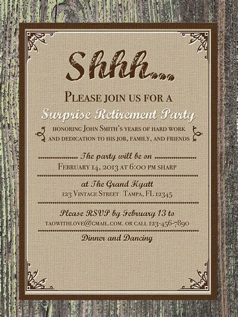 41 best retirement invites images on pinterest