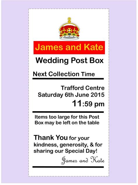 Wedding Post Box To Buy by Personalised Royal Mail Any Size Any Colour Post Box