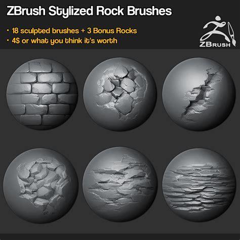 zbrush wood tutorial zbrush sp 18 rock brushes 3 ztool rocks mini tutorial