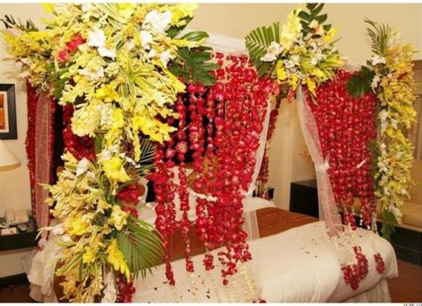 Flower Decorations For Bedroom by Bridal Wedding Bedroom Decoration Designs Ideas Pictures