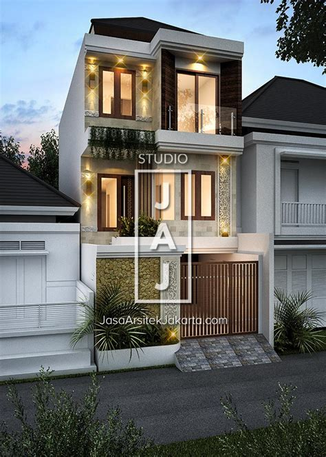 desain rumah  lantai luas bangunan  style bali modern ibu hamidah jakarta jasa arsitek