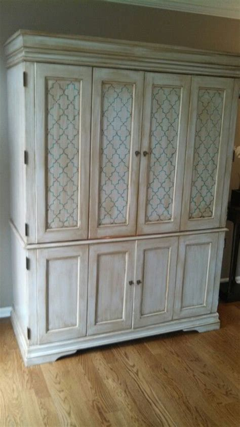 s w cabinets winter refinished armoire from a cherry stain to shabby chic