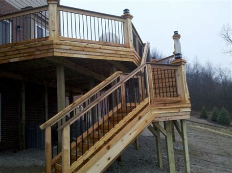 cottage deck ideas images  pinterest deck