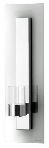 kerzenhalter wand glas 1st wandblaker glas kerzenhalter edelstahl wandplatte