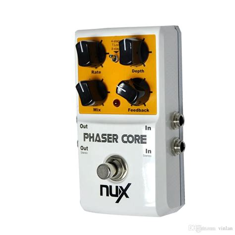 Nux Phaser Stomp Box 2017 original product nux as 3 phaser phase shifter modulation stomp effect pedal tone lock