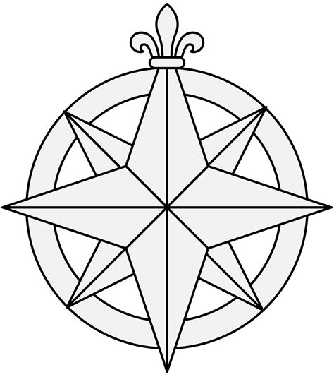 compass rose coloring page az coloring pages compass rose coloring page 9297