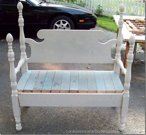 bench made from old bed frame bed frame benches for the home pinterest