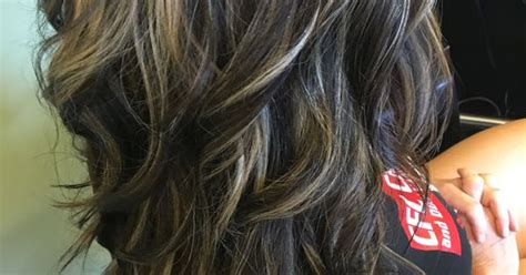 camouflaging gray hair with highlights rich dark neutral chocolate brown with blended highlights