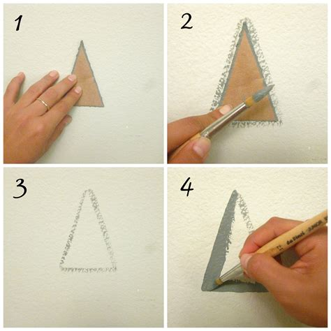 triangle pattern on wall a little diy hand painted geometric wall pattern