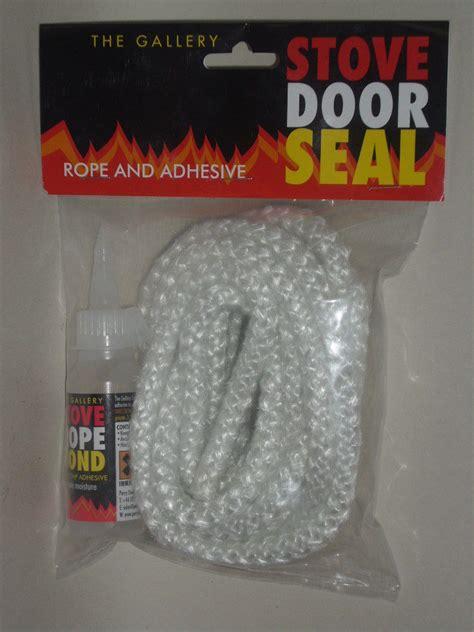 fireplace door seal new log burner stove rope door seal kit 9mm x 3m 163