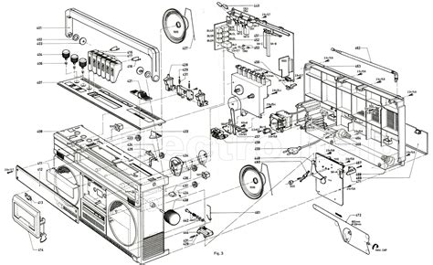 what is an exploded diagram philips stereo 22ar580 00 radio recorder schematic