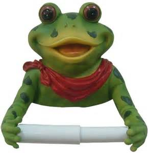 Funny Toilet Paper Holder Frog Bathroom Toilet Paper Holder Red Bow On Sale Blog