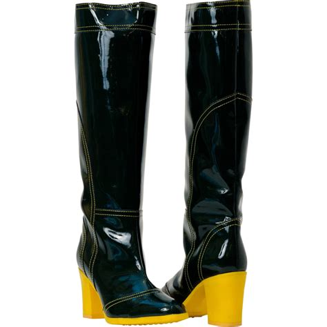 black shiny leather boots paolo shoes