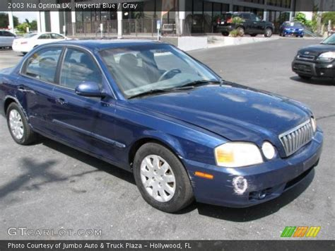 2003 Kia Optima Lx Imperial Blue 2003 Kia Optima Lx Gray Interior