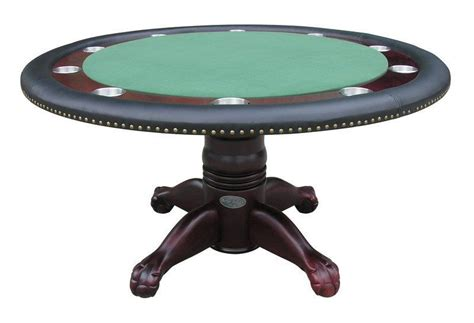 Round Table Gift Card - 60 quot round poker card table with 2 felt tops 10 metal cup holders in mahogany ebay