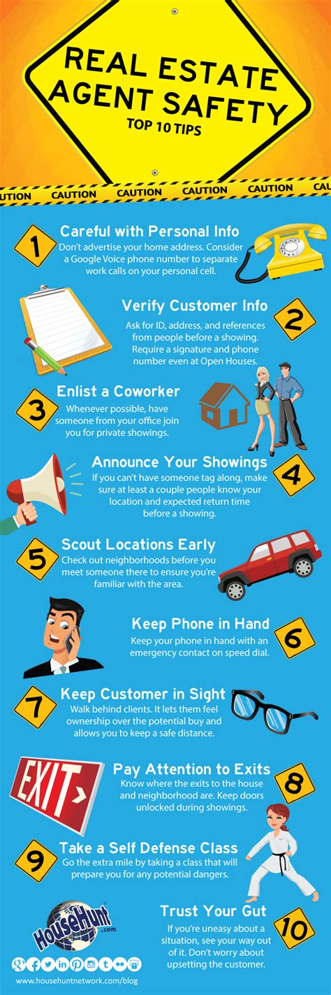 real estate open house tips top 10 real estate agent safety tips infographic