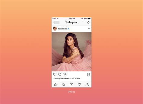 Free Instagram Feed Screen Ui Mockup 2017 Good Mockups Instagram Ad Template Psd