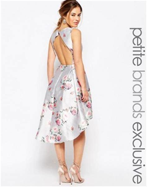 Mini Dress Low Open Back Motif Bunga Floral Hitam Merah open back high low mini dress in floral by chi chi multi