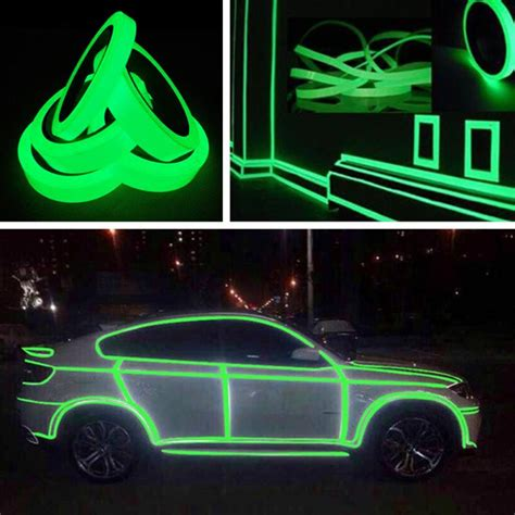 Glow In The Luminous Adhesive 1 5 Cm X 10 M Lakban 1cm 10m luminous waterproof self adhesive glow in the safety stage home decor in wall
