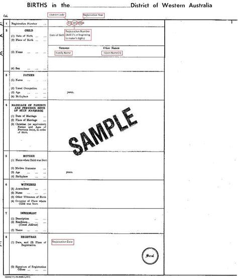 birth certificate design qld qld birth certificate sle gallery certificate design