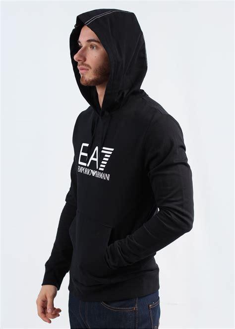 Hoodie Jumper Greddy Black emporio armani logo hooded sweatshirt black