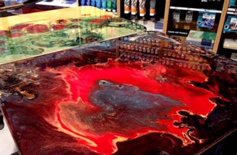 mixing acrylic paint with resin on canvas pebeo mixed media for everyone pullingers