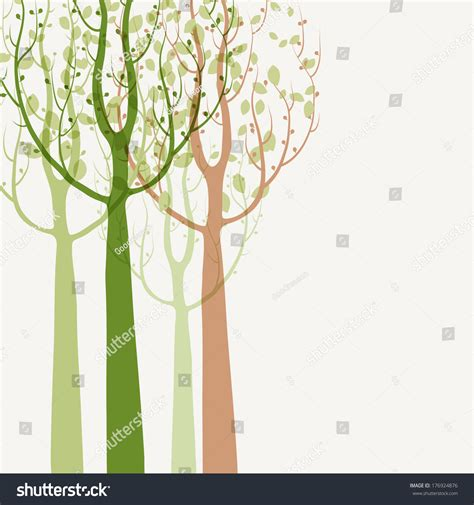 seasonal pattern en francais spring trees background seasonal pattern vector stock