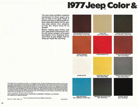 1977 jeep paint color selections a photo on flickriver