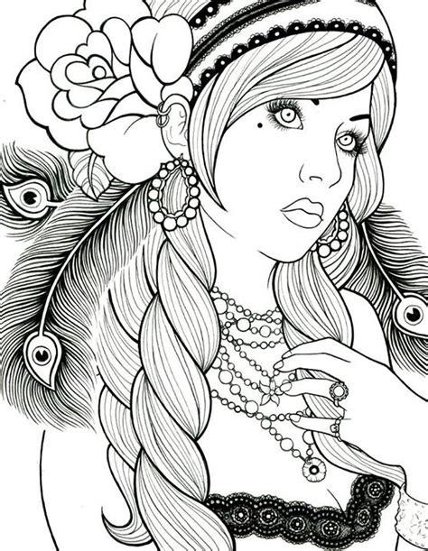 coloriages zen pour adultes coloriages portraits femme