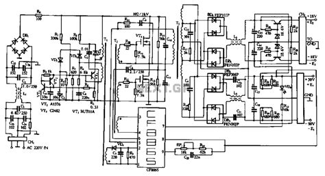 smps power inverter circuit diagram circuit and