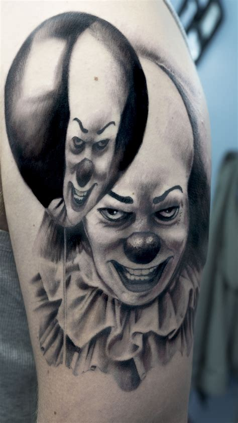 pennywise tattoo part of a horror sleeve it pennywise clown