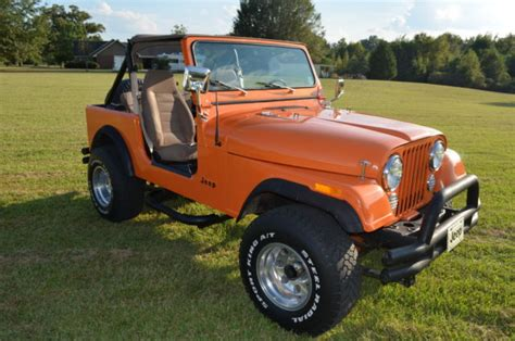 orange jeep cj 1982 jeep cj7 pearl orange chevy v8 new interior