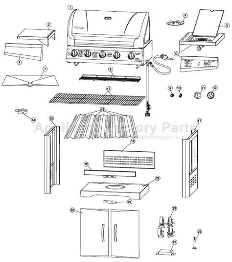 charmglow gas l parts charmglow 810 8500 s bbq parts