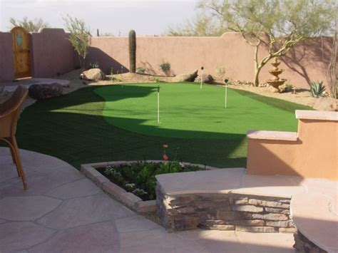 outdoor putting greens in arizona backyards