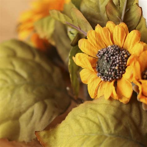 Sun Flower Overall 1 dried artificial sunflower candle ring fall and sale sales