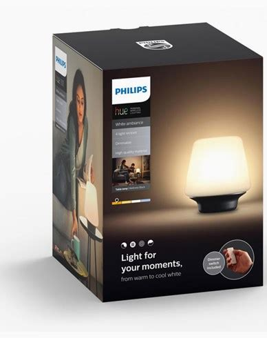 white ambiance wellness table l lysman philips hue wellness table l black 1x9 5w 231