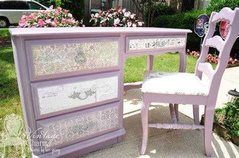 Decoupage Desk - diy this desk was given a facelift with paint by