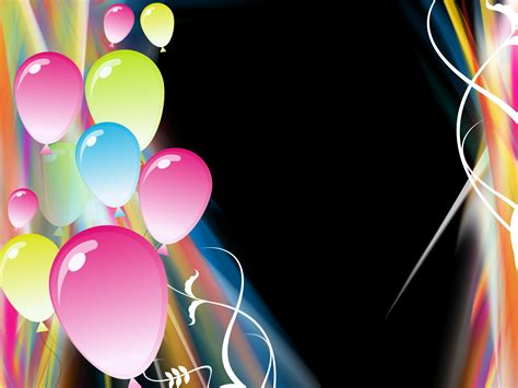 party balloons background for powerpoint templates ppt