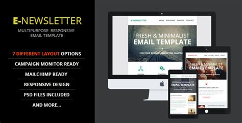 Site Template Themeforest E Newsletter Multipurpose Email Template 9522499 187 Elmesky Com Themeforest Html Email Template