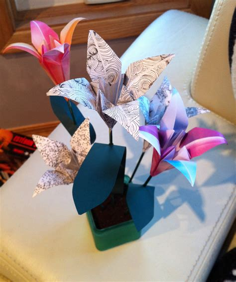 Day Origami Ideas - s day gift idea origami flowers agreeordie