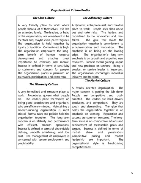organizational culture assessment instrument template the organizational culture assessment instrument