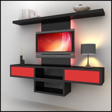 Red Gloss Kitchen Cabinets - 37 best images about lcd panel on pinterest wall mount modern wall units and modern tv wall units