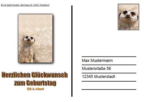 Aufkleber Drucken R Ckseite Geschlitzt by Ziemlich Postkarte Beispielvorlage Ideen