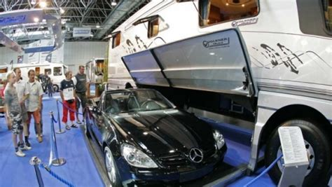 cars volkner mobile rv with garage foundation 3d the volkner car swallowing ultra luxury motorhome