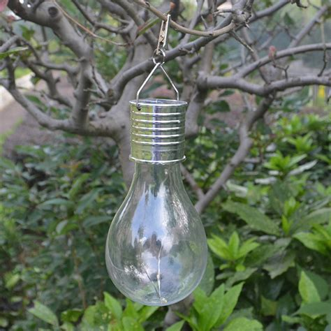 Solar Power Rotatable L Bulb Hanging Light Decoration 5 Solar Powered Hanging Lights