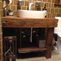 Hand crafted rustic bath vanity reclaimed barnwood by intelligent