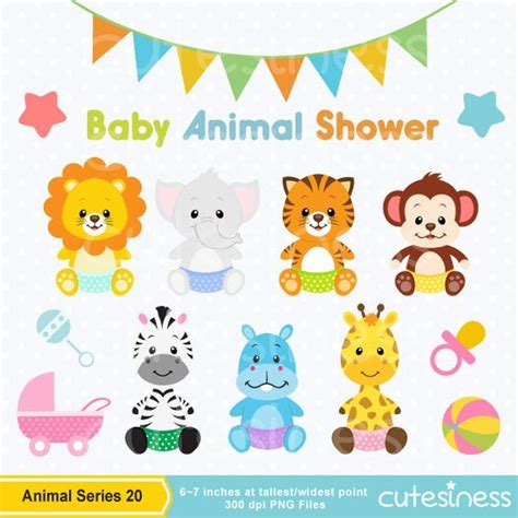 baby animal clipart baby jungle animals clipart baby