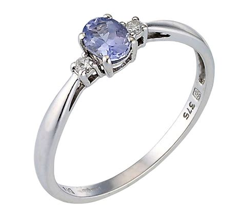 9ct white gold tanzanite ring h samuel