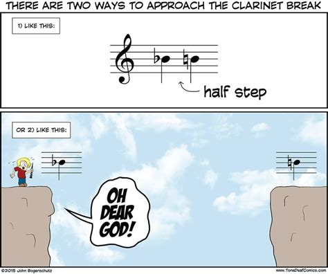 Clarinet Player Meme - one small half step for man one giant leap for