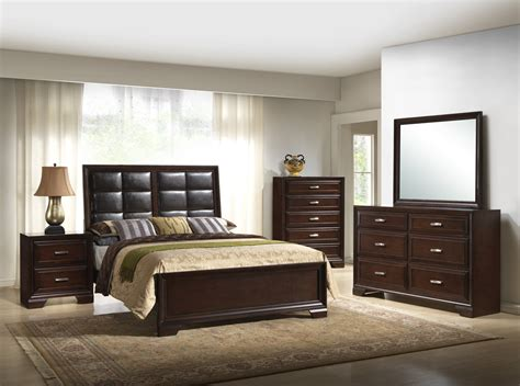 upholstered bedroom sets crown furniture jacob upholstered bedroom set in rich brown